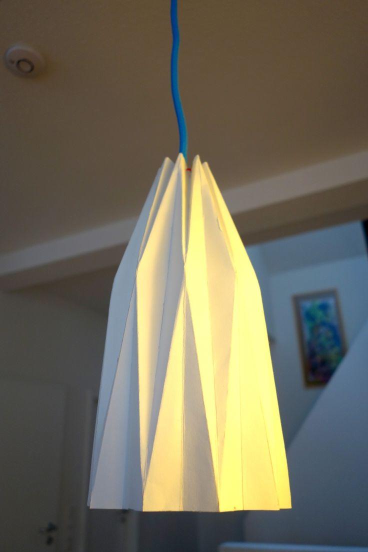Origami lampenschirm basteln diy
