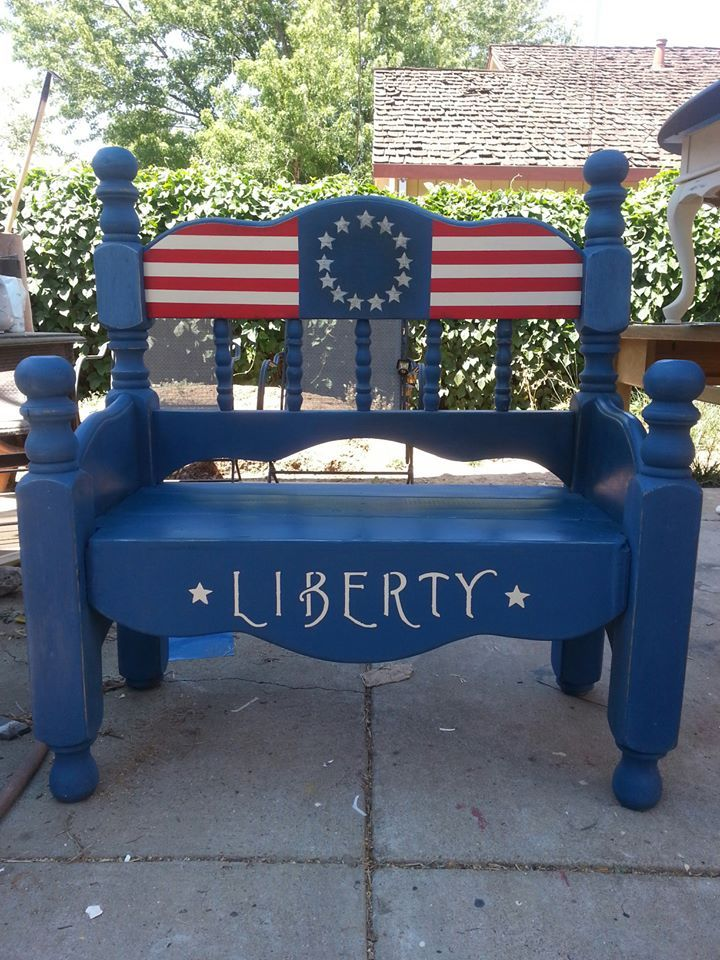Best 20 americana chalk paint ideas on pinterest girls for What kind of paint to use on kitchen cabinets for painted american flag wall art