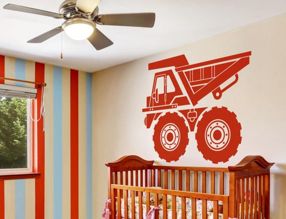 Dump+Truck++Boys+truck+room++Boys+Truck+Art++Dump+Truck