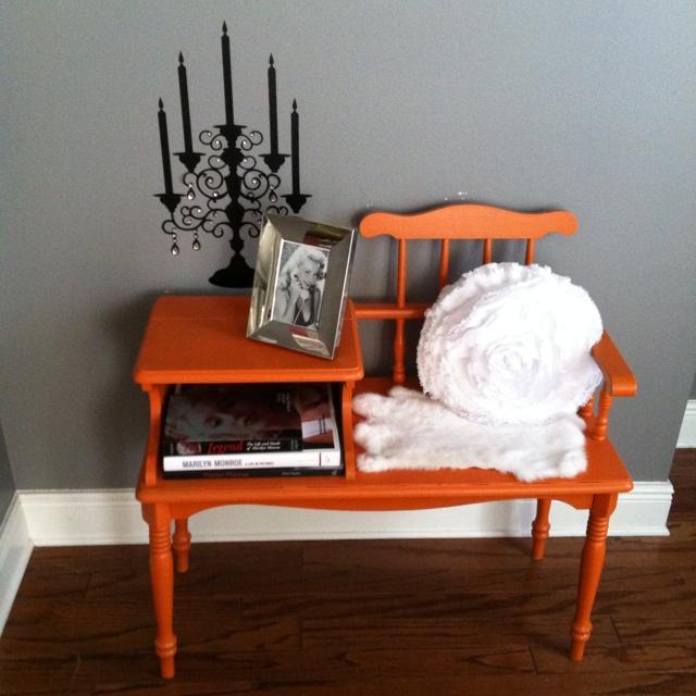 Gossip Benches Part - 25: Gossip Bench All Prettied Up Orange :)