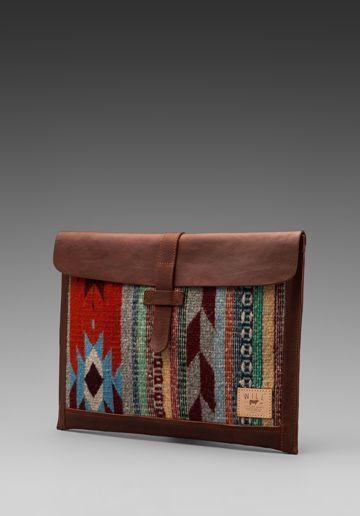 WILL Leather Goods Oaxacan Laptop Sleeve in Cognac