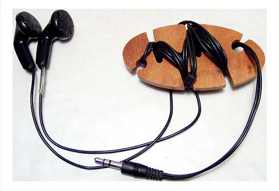 Cord Holder Cord Organizer Wooden Earbud Holder Earbud