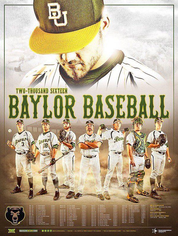 2016 Baylor Baseball Poster