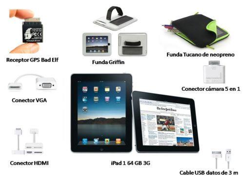 IPad 1 64 GB + 3G en su caja original con accesorios de regalo