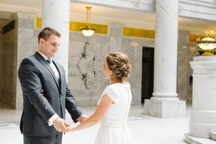 Jamie Tervort Photography, Utah State Capitol Formals, Bride and Groom Pictures, Bridals, Wedding, White wedding shoes, heels, coral, cream white wedding bouquet, first look