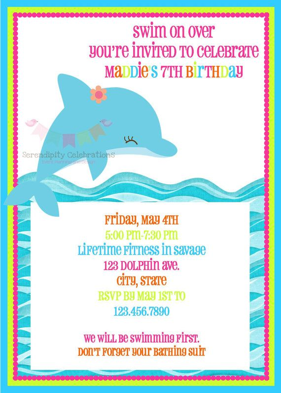 BRIGHT Dolphin Happy Birthday Word Banner by SerendipityPartyShop
