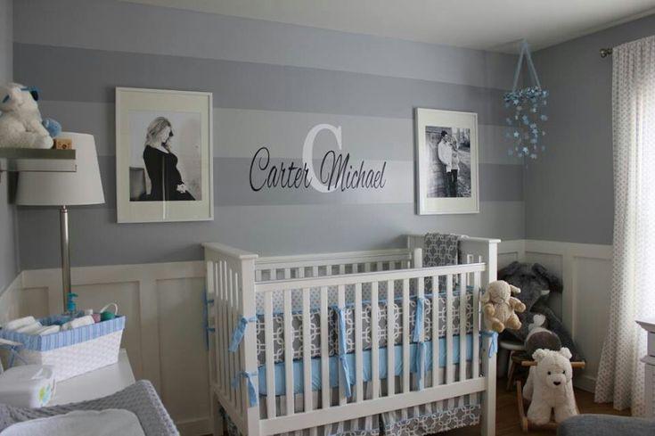 Gray and blue nursery