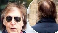 PAUL ON THE RUN: Paul McCartney displays his slightly thinning hair...