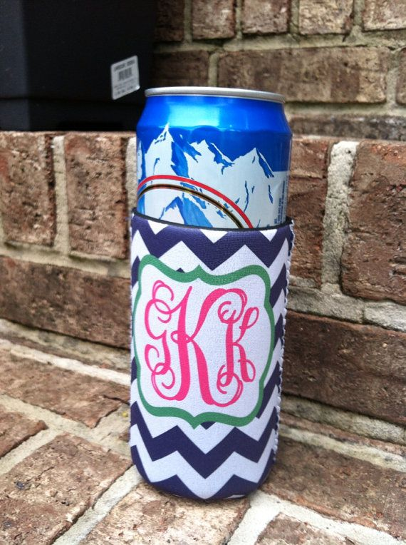 Tall Can Cooler ~ Personalized oz can koozie coozie monogram