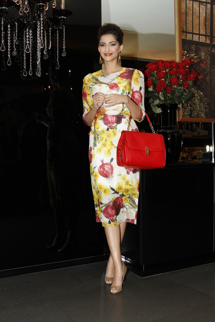 Sonam Kapoor attending the Dolce&Gabbana womenswear FW13 fashion show