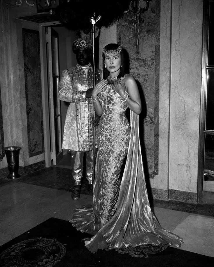 Lena Horne at the 8th annual Fan Ball as Queen Cleopatra VII.  This was held at the Plaza Hotel in New York City.