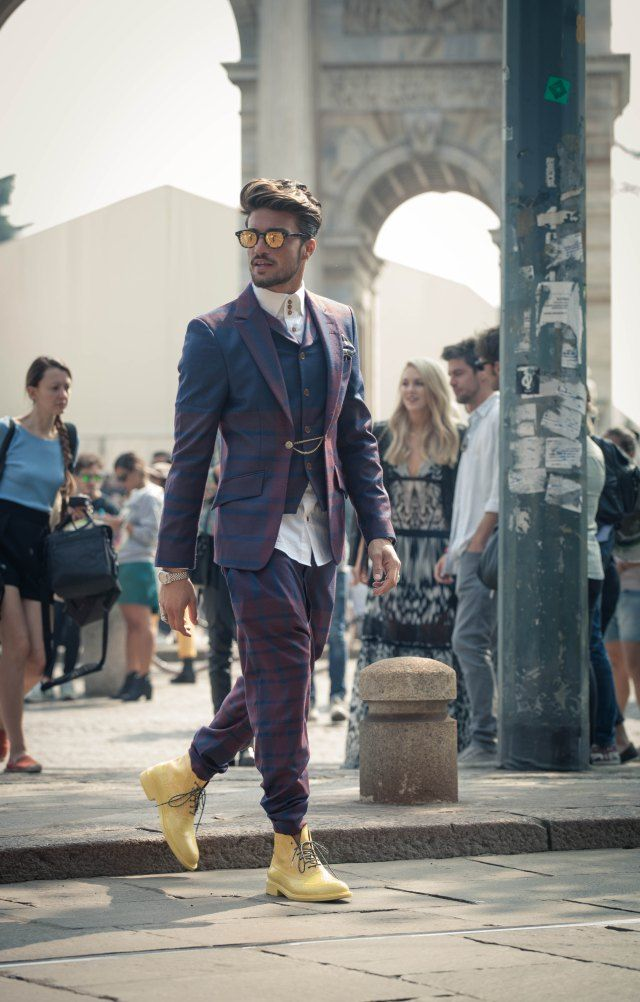 Mariano Di vaio's look - Mensfashion - street  style man milan                                                                                                                                                                                 Más