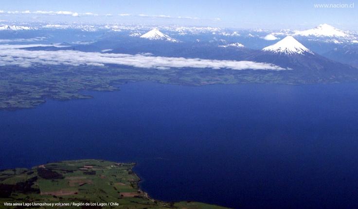 Vista áerea del Lago Llanquihue / Chile