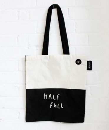 Lazy Oaf Half Full/Half Empty Tote Bag