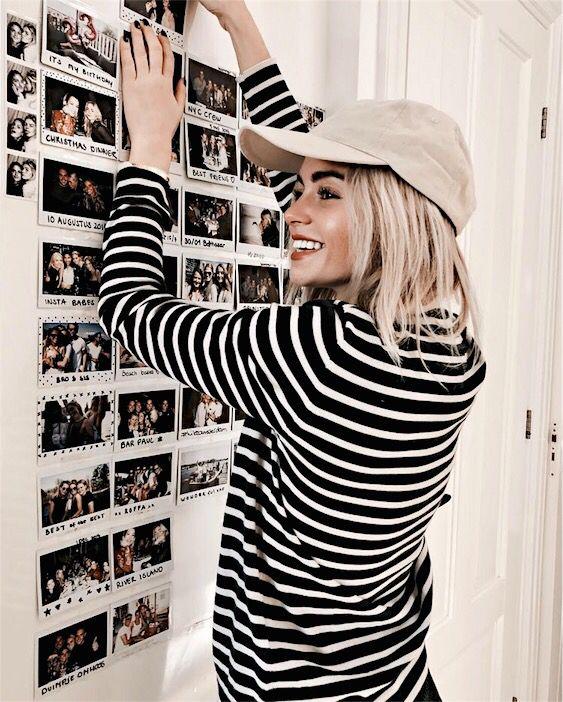 wall goals, makeup goals, outfit and hair goals.