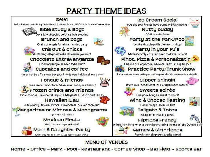 theme party ideas direct sales -