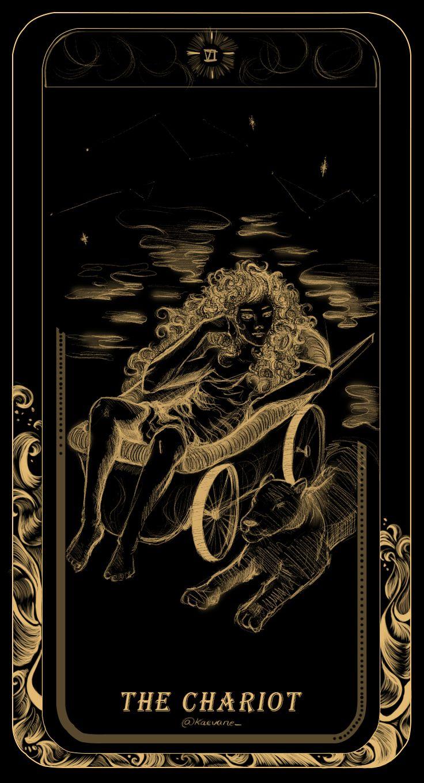 The chariot card tarot inktober