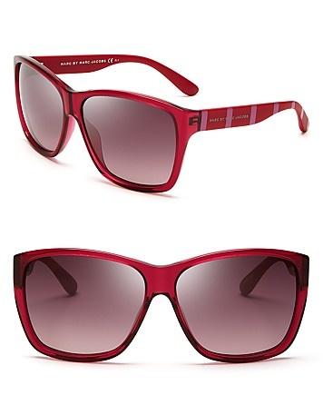 MARC BY MARC JACOBS Oversized Transparent Wayfarer Sunglasses | Bloomingdale's
