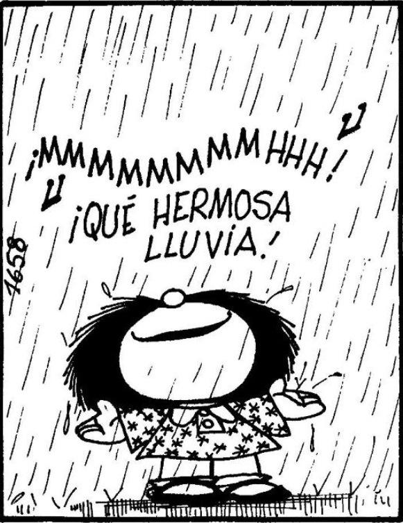 Mafalda en la Lluvia