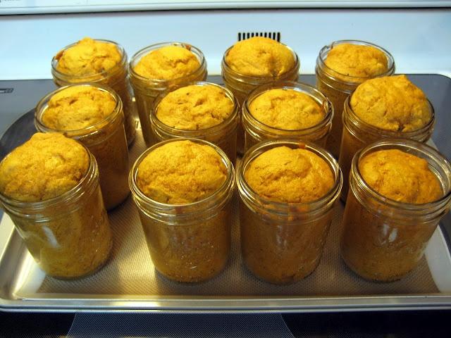 pumpkin cake in a jar