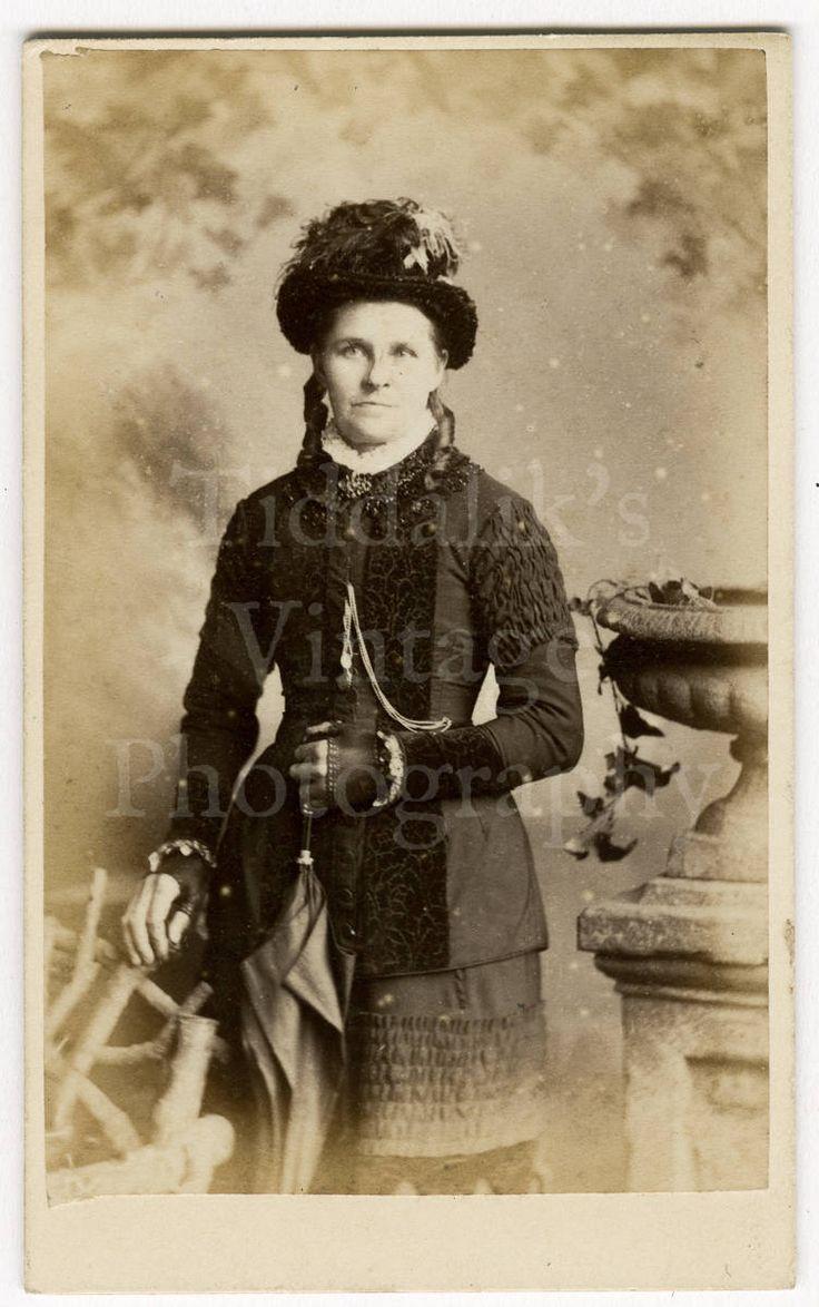 The dress agency horncastle - Cdv Carte De Visite Photo Victorian Standing Woman Holding A Parasol By Carlton Sons Of
