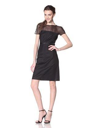 Les Copains Women's White Label Lace Print Dress