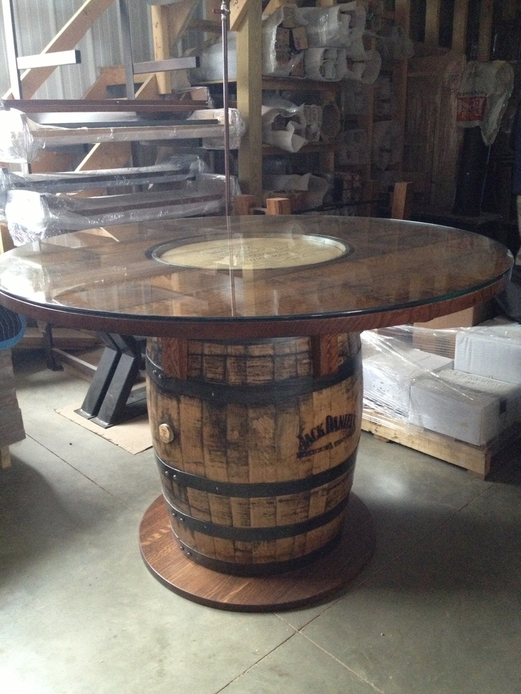 Wooden Barrel Table American Made Solid Wood Furniture