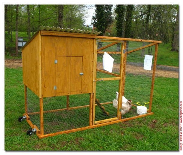 How to make a movable chicken coop woodworking projects for Diy movable chicken coop