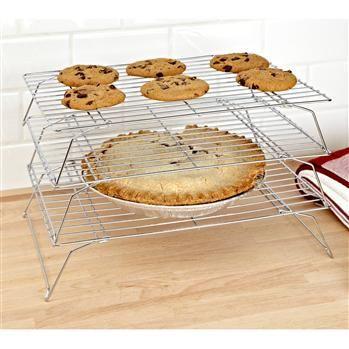 "Fox Run Stackable Cooling Rack Set/3 10"" X 14"" Chrome   Kitchen Stuff Plus"