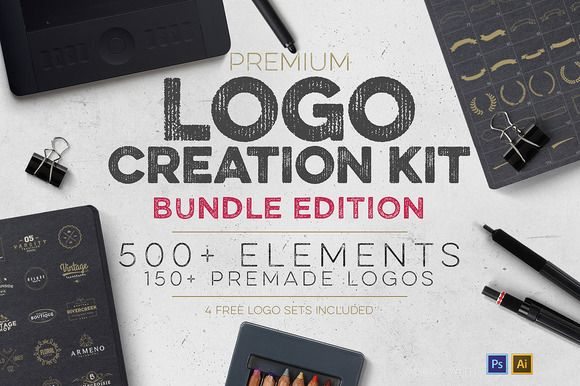 Logo Creation Kit Bundle Edition by Zeppelin Graphics on Creative Market