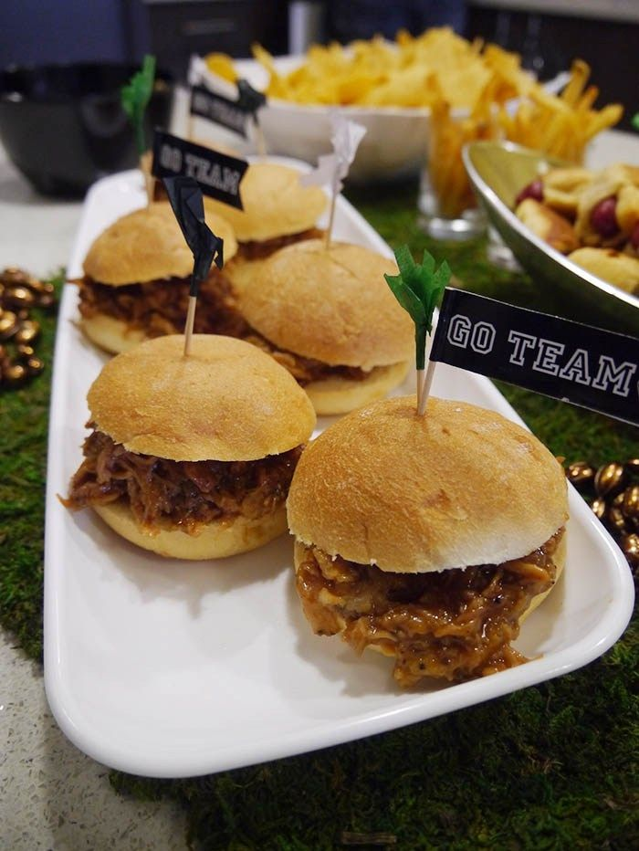 Pulled Pork Sandwiches Are A Must At A Football Party
