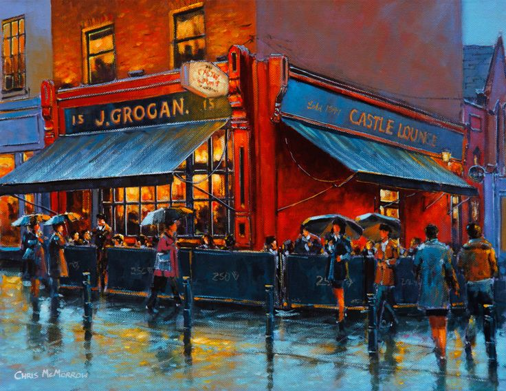 Grogan's Pub, signed limited edition prints, by Chris McMorrow - www.keelinggallery.com - from €45