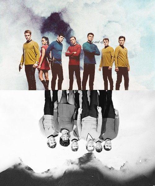 Star Trek, now and then - Pinned because it doesn't get a lot cooler than this. #startrek #LLAP #kurttasche