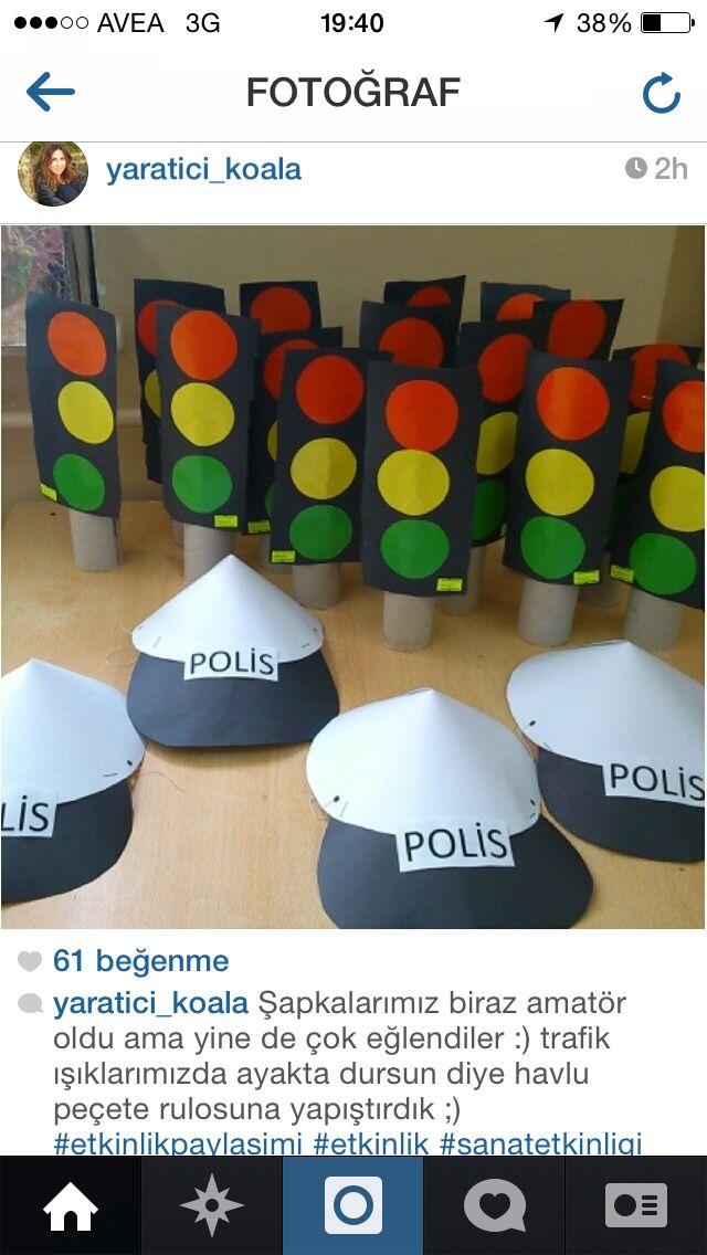 Polis trafik ışıkları