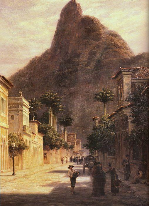 bernard wiegandt -  rua são clemente, rio de janeiro (rue st clément, rio de janeiro), oil on canvas, 1884 (sergio fadel collection, rio de janeiro).