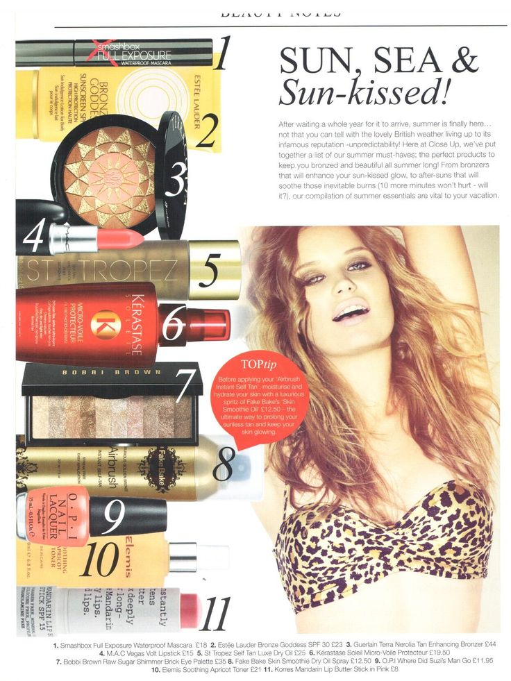 Close Up magazine are loving our Fake Bake Airbrush for the perfect sunkissed summer look!