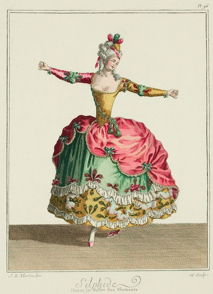 """Opera Costumes from the time of Marie Antoinette French late 1770's. """"Galerie des Modes et Costumes Francais"""" In the late 1700's two print sellers in Paris decided to sell fashion plates of current..."""