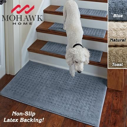 For The Stairs So Dog Can Walk Down Them Without Slipping Stay Put Hardwood Stairshardwood Floorsstair Rugsstaircase