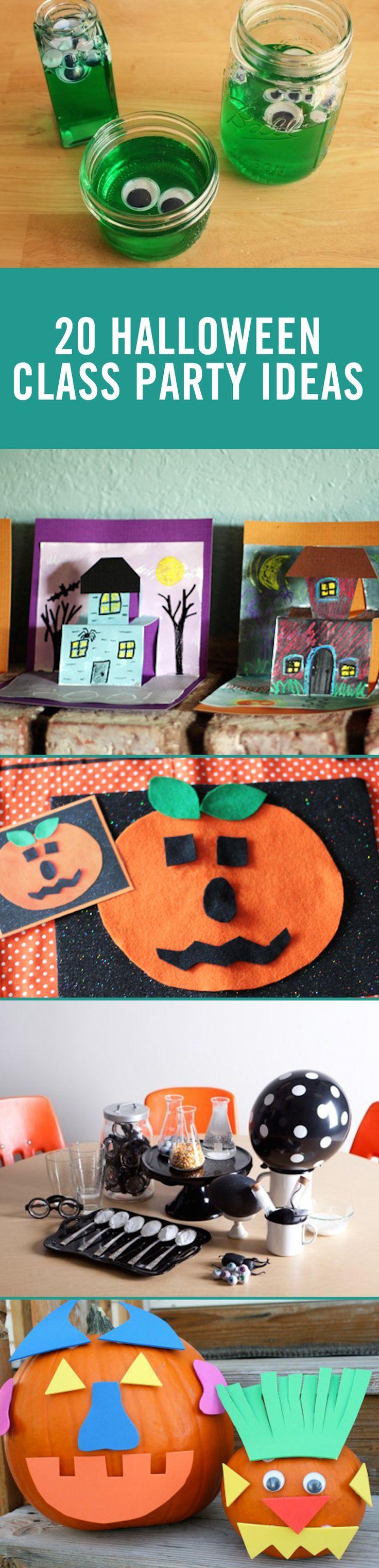 6th grade christmas party ideas - 20 Halloween Classroom Party Ideas