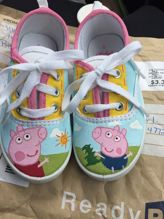 9687058ac94 Made to order Adorable custom Peppa pig shoes