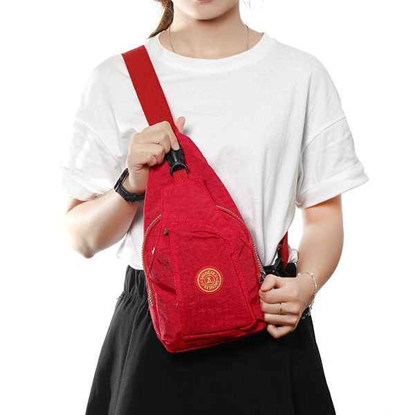 Women Men Wash Cloth Casual Pillow Chest Diagonal Bags