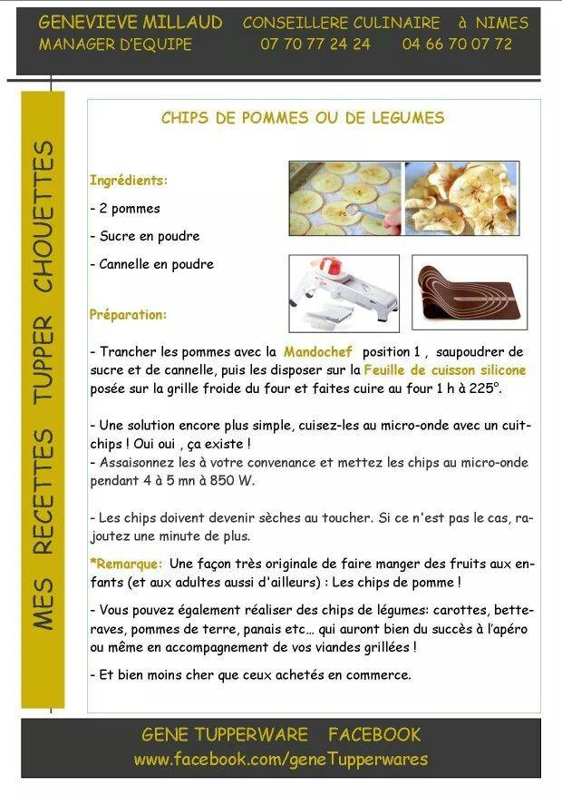Tupperware - Chips de pommes ou de légumes