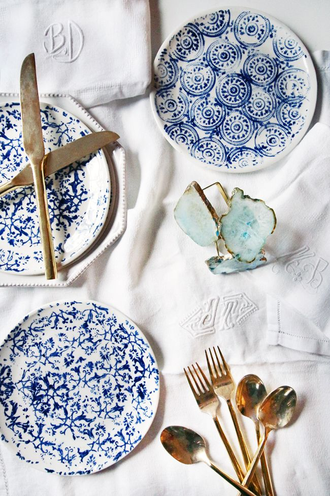 Blue & White Holiday Table
