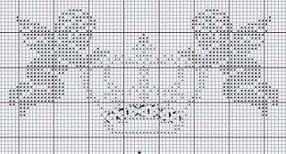 .Anges, Cherubs, Crown-Cross stitch pattern