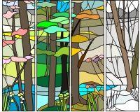 Four seasons 1 (four panels)