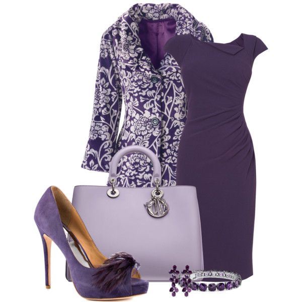 A fashion look from February 2013 featuring L.K.Bennett dresses, ANGELINA coats and Badgley Mischka pumps. Browse and shop related looks.