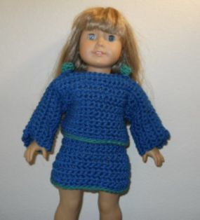 Free American Girl crochet pattern for a long sleeve ...
