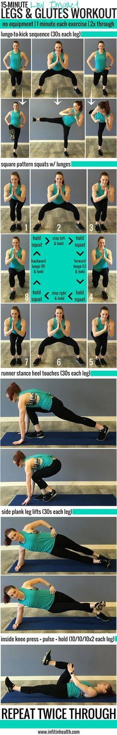 15-Minute Low Impact Legs & Glutes Workout (perfect for quiet spaces!)
