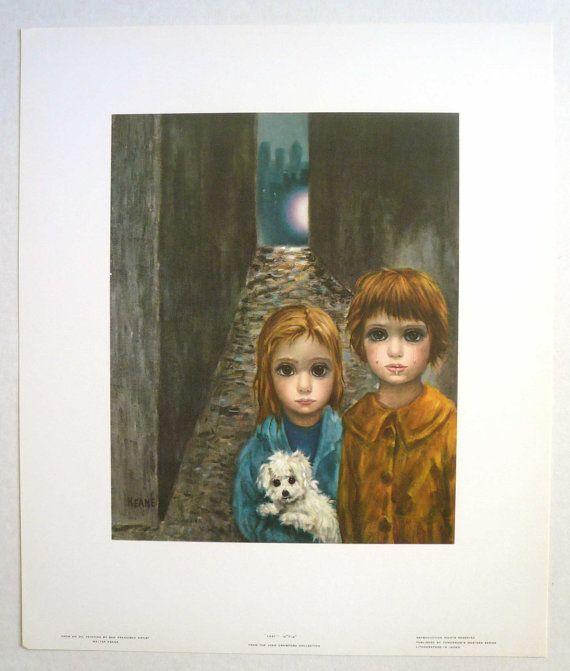 walter+keane+prints | Lost Big Eye Boy Girl Dog Litho SF Artist Walter Keane