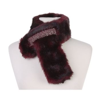 Swarovski Women's Faux Fur Crystal Scarf